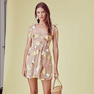 NWOT for love&lemons mini dress lemon sequins